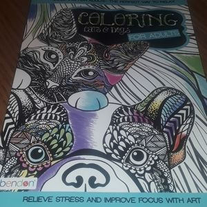 Cat & Dog adult coloring book / BUNDLE ONLY